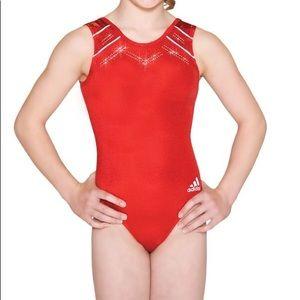 Adidas Stella McCartney Red Gymnastics Leotard